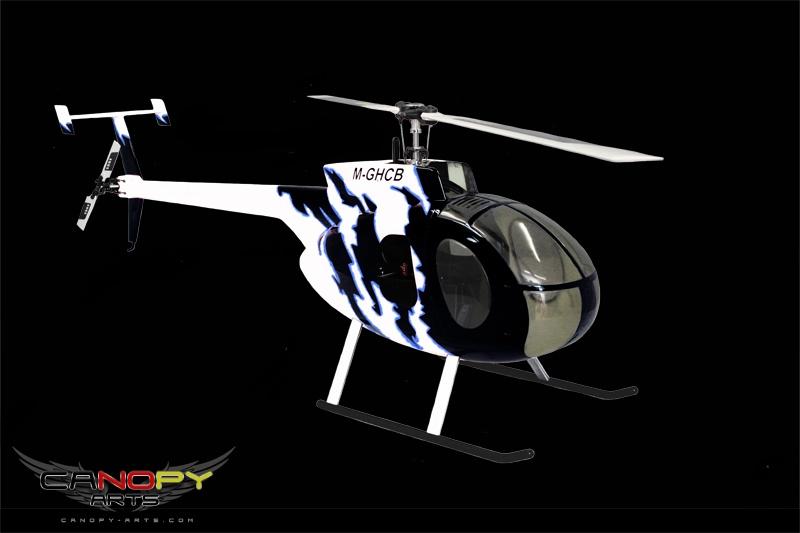 Hughes 500 D black/white