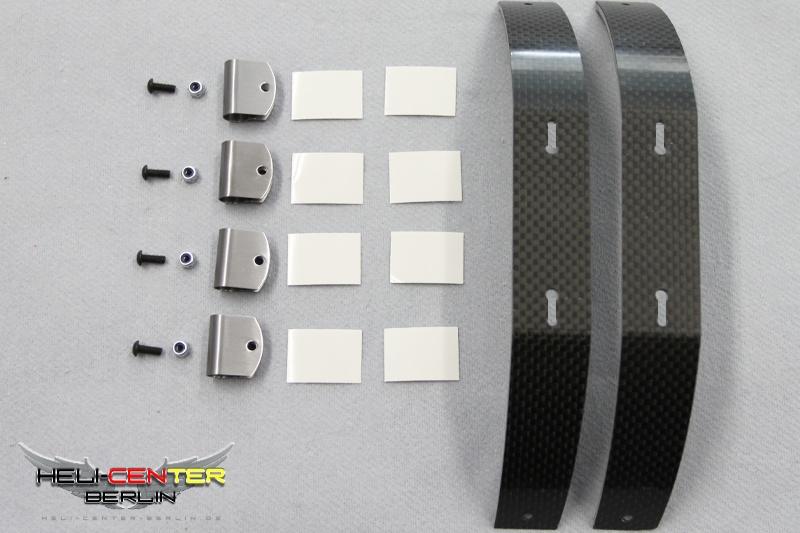 Skid Set Carbon Fiber / Fiberglas