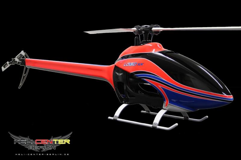 Tailboom Cover Carbon fiber/Fiber glas Logo 600 SX neon red