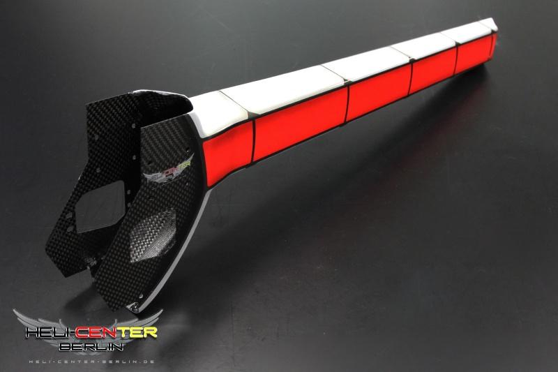 Tailboom Cover Logo 480 Carbon fiber / fiberglas