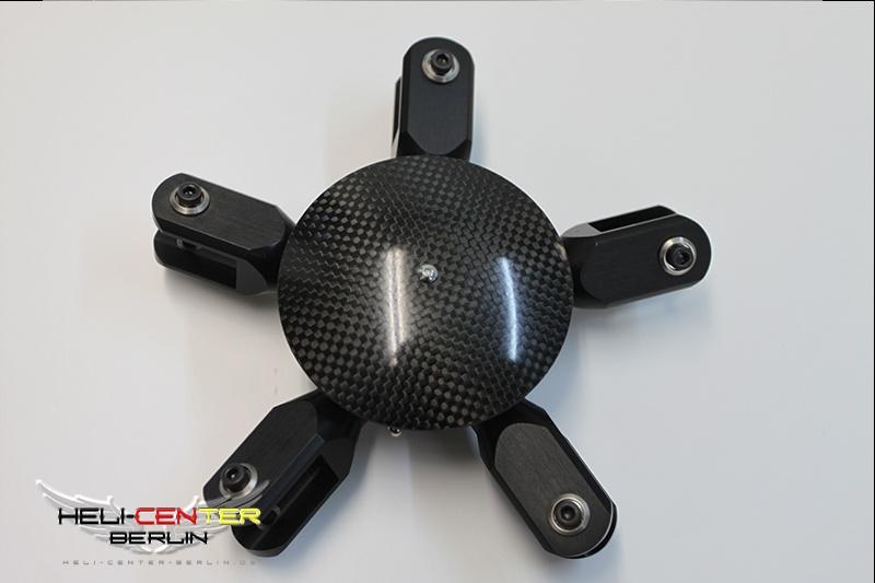 Rotorkopf 5-Blatt 600/700 schwarz 10mm