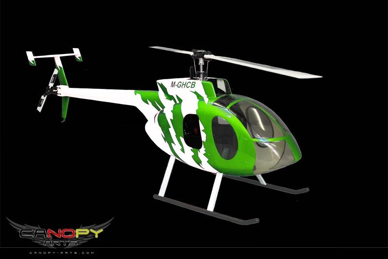 Hughes 500 E grün/weiß