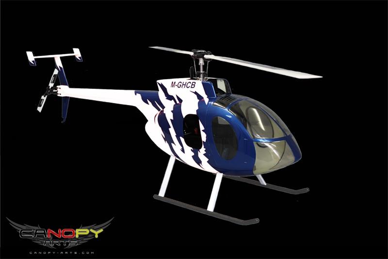 Hughes 500 E blau/weiß