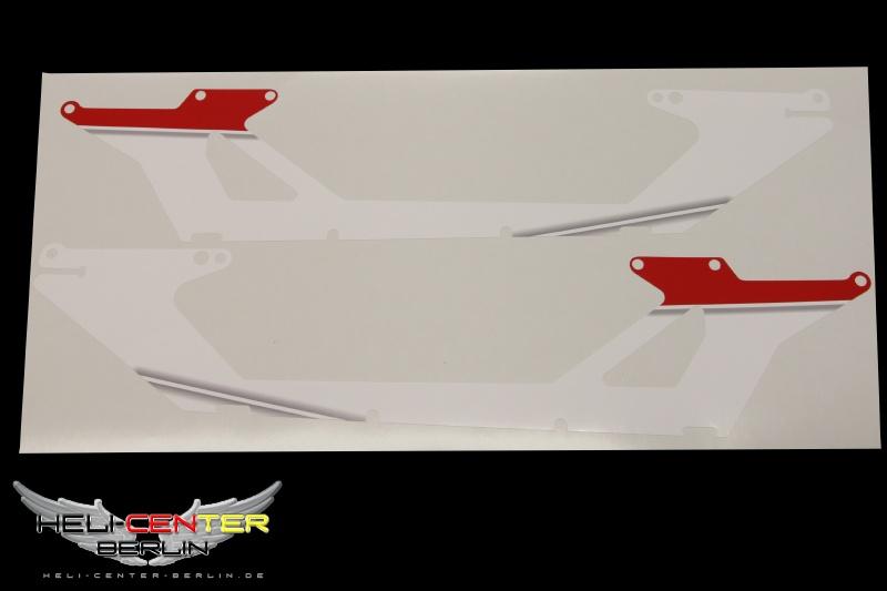 Aufkleber für Chassis JR Forza 700 bedruckt weiß/rot
