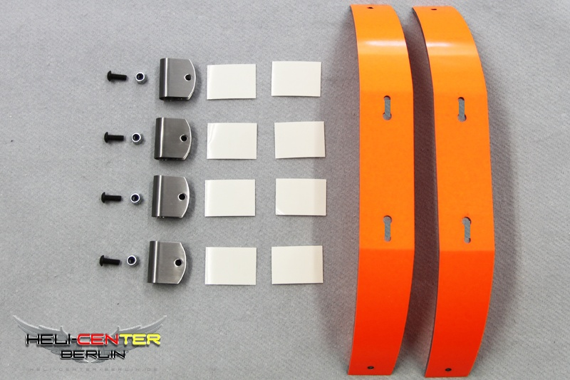 Skid Set Carbon Fiber / Fiberglas neon orange