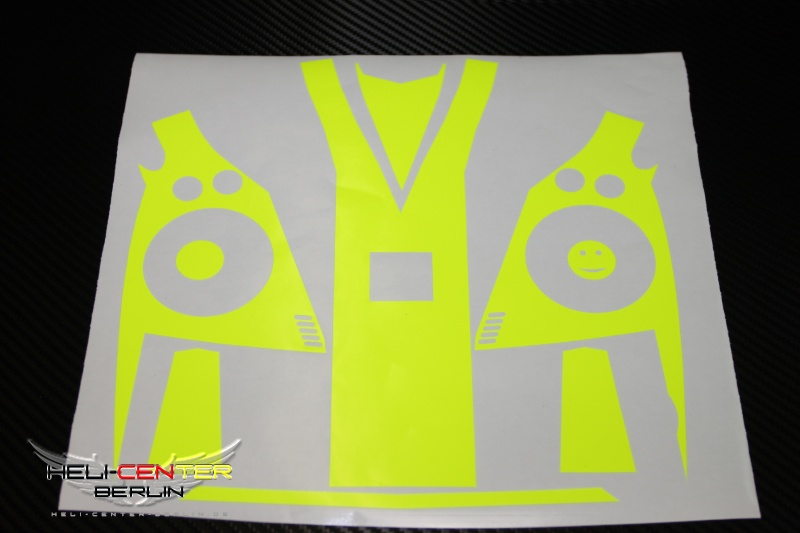 Decal Set VBar Control neon yellow