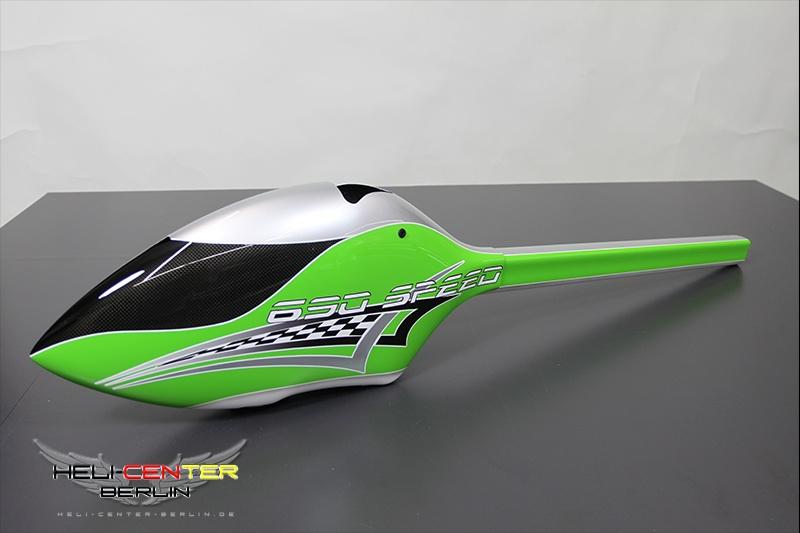 Haube 690 Speed grün/silber