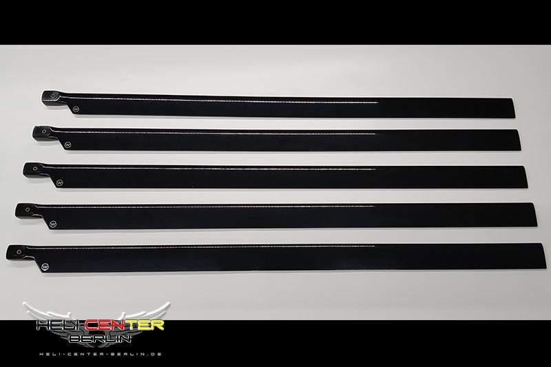 Rotorblätter 5-Blatt-Satz schwarz 770mm vollsym.
