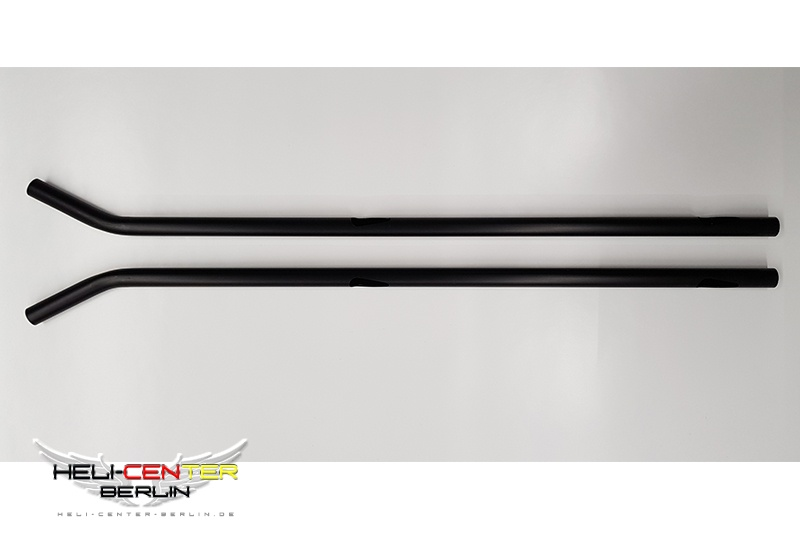 Kufenrohr links und rechts Hughes 500 (700) schwarz