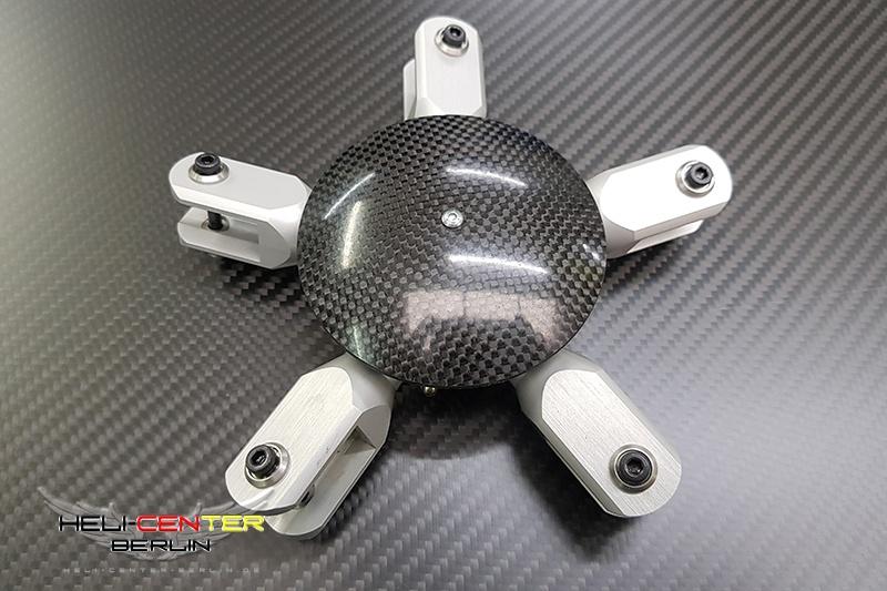 Rotorkopf 5-Blatt 600/700 silber 10mm