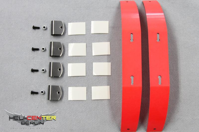 Kufenbügel Set Cfk/Gfk neon rot