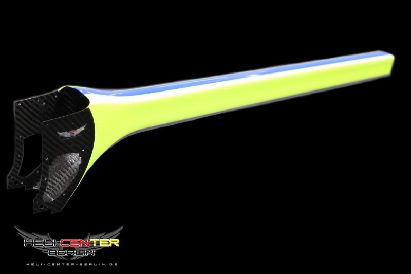 Heckrohrverkleidung  CfK/Gfk Logo 600 SE neon gelb