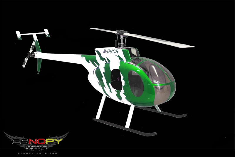Hughes 500 D green metallic/white