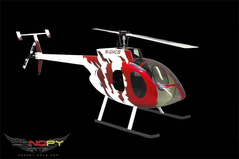 Hughes 500 E rot/weiß