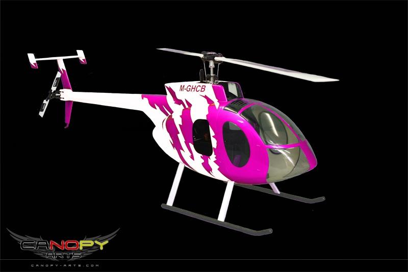 Hughes 500 E pink/weiß