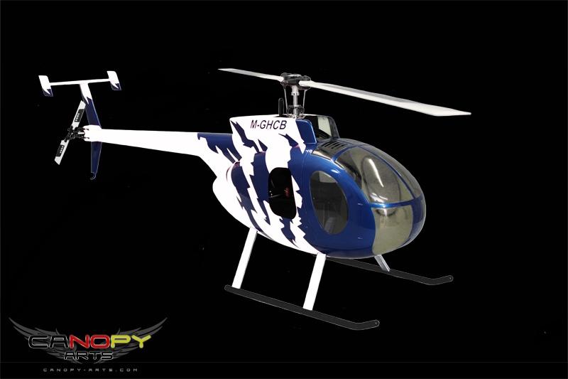 Hughes 500 D blue metallic/white