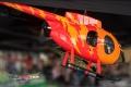 Hughes 500 E neon orange / neon rot